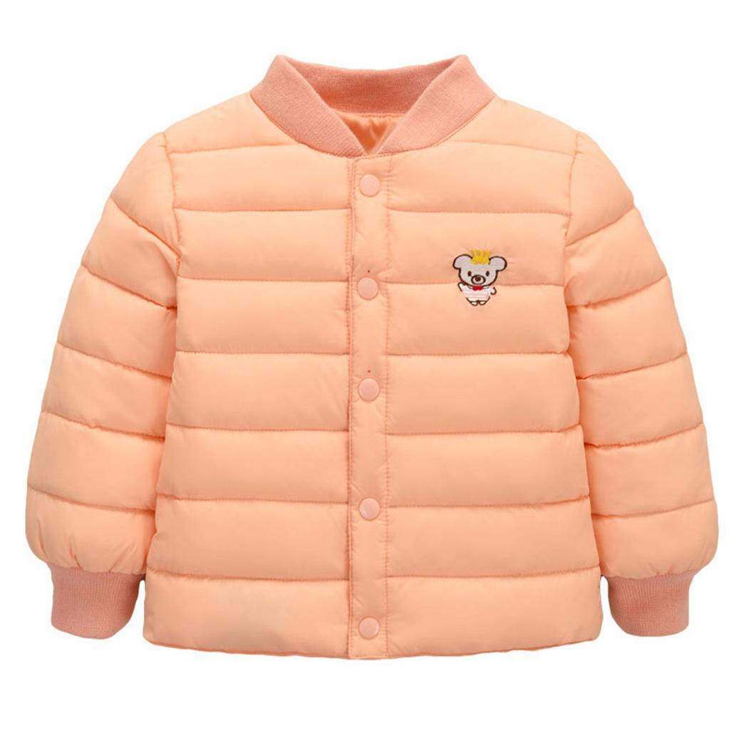 100% Quality New Kids Children Winter Thicken Warm Stand Collar Long Sleeve Coat Outwear Everyday Holiday Boys Cute Casual Solid