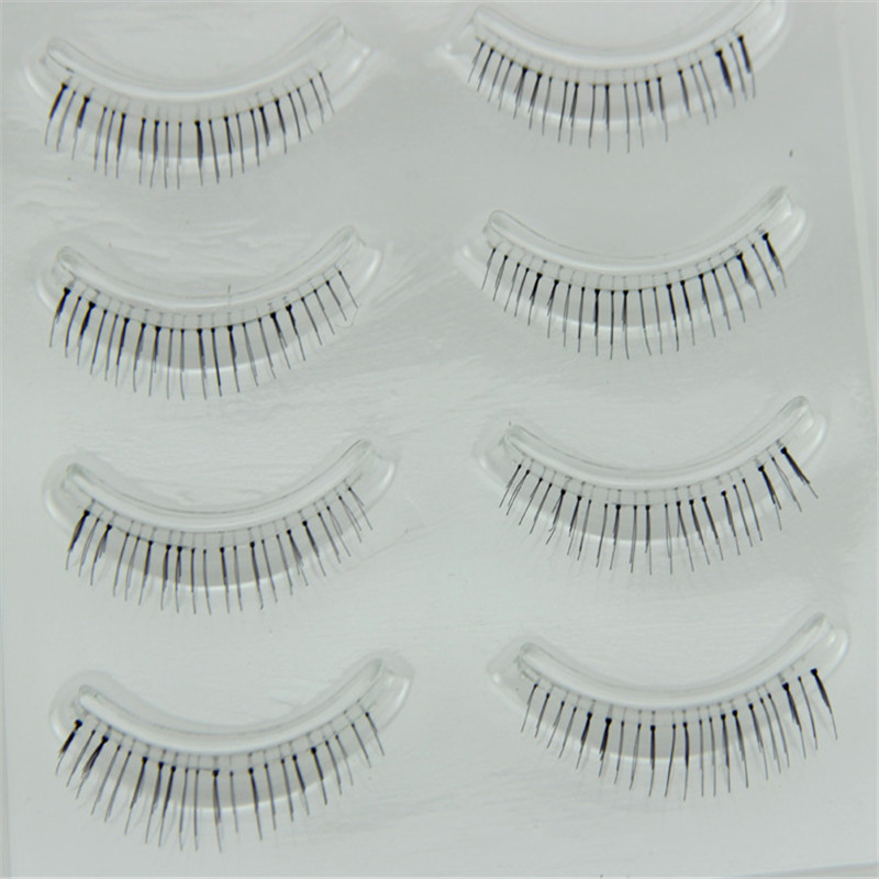 4 Pairs Eyelashes Makeup Natural Under Lashes False Eyelashes Handmade Lower Bottom Fake Eye Lashes Short Eyelash Extension