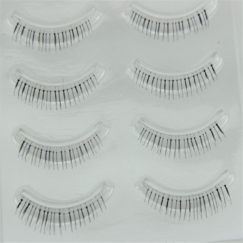4 Pairs Eyelashes Makeup Natural Under Lashes False Eyelashes Handmade Lower Bottom Fake Eye Lashes Short Eyelash Extension