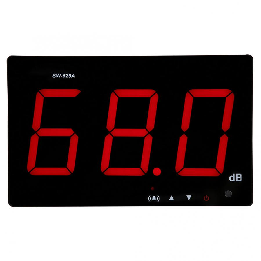 Sound Level Tester Wall Mounted LCD Display Digital Sound Level Meter USB 30 130dB SW 525A