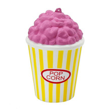 Popcorn Cup Squishy Slow Rising Funny Gadgets Novelty Interesting Toys Stress Relief Squeeze Toys Gift Decoration Phone Straps