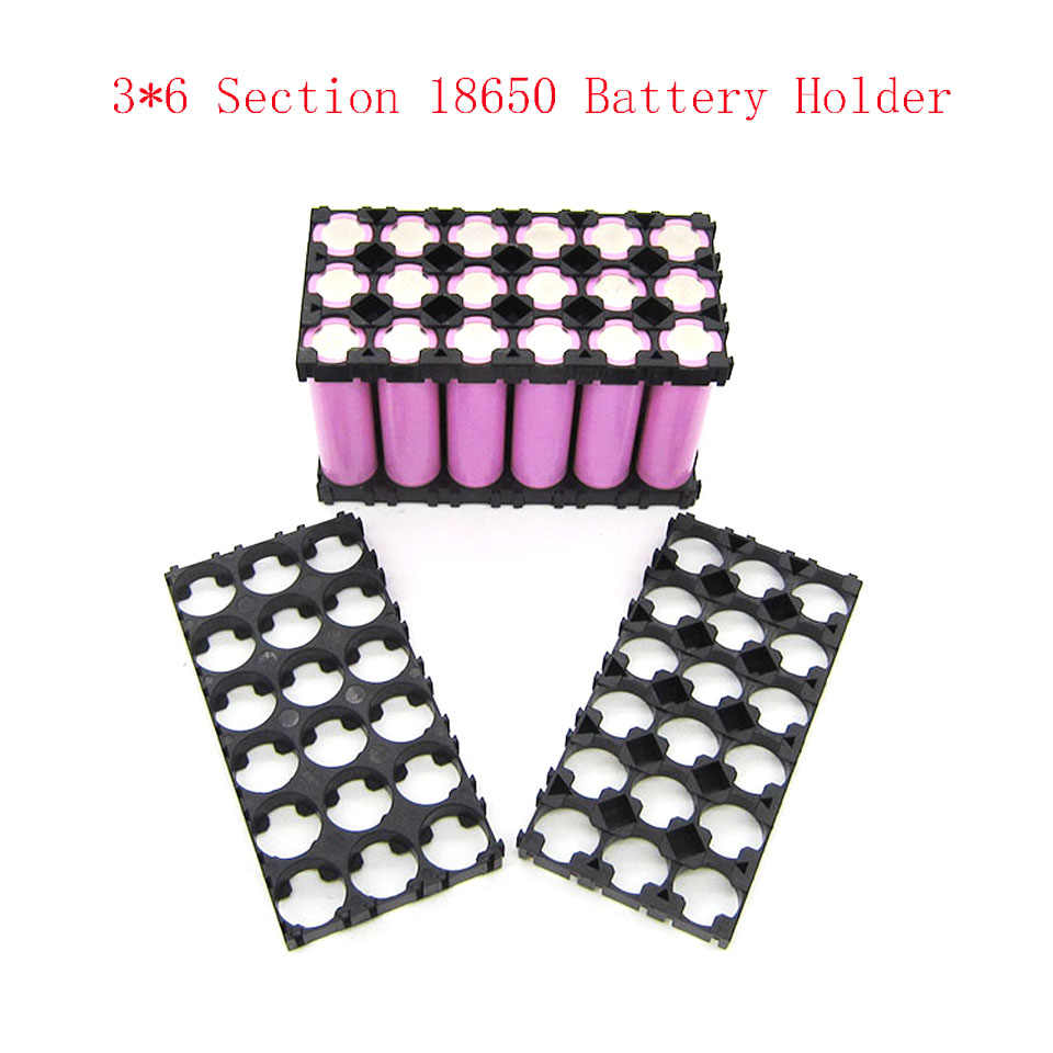 3x6 Cell 18650 Batteries Spacer Radiating Shell Plastic Heat Holder Bracket