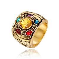 Gold Metal for Infinity stones Ring Crystals Ring Jewelry for Men Women Ring with Stones Jewellery Crafts Gifts Toy Figures