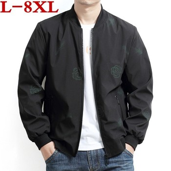 2019 Plus size 8XL 7XL 6XL 5XL coat men's tide loose man big men's casual men's high quality jacket