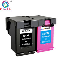 ColoInk 2Pack Compatible 301XL Ink Cartridge Replacement for hp 301 xl CH563EE CH564EE Deskje 1000 1050