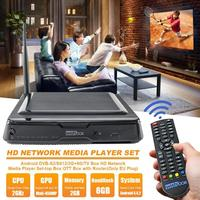 VODOOL DVB S2 Decoder Android TV Box 2G+8G Amlogic S812 Quad Core 2.4GHz HD 4K Combo Set Top Box Media Player High Quality