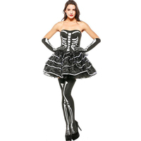 Sexy Women's Skeleton Costume Cosplay Halloween Carnival Purim Festival Adult Party Colthing