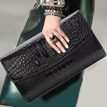купить Fashion Hand bag Women's Handbag Crocodile Pattern Women's Bag Shoulder Messenger bag Chain Package Retro Totes Crossbody Bag дешево