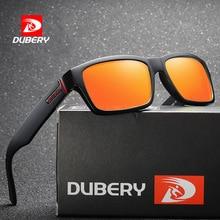 DUBERY Sunglasses Men Polarized Women 2019 New Fashion Square Vintage Sun Glasses Sport Driving Retro Mirror Luxury Brand