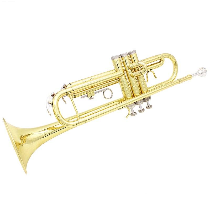 SLADE 53.00*14.50*12.00 cm importation laiton or trompette en laiton Instruments de musique trompette