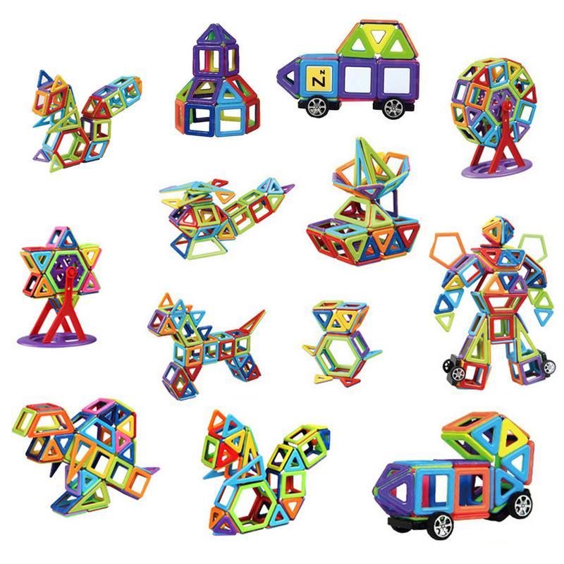 Gewetensvol 109 Stks/set Magnetische Designer Bouw Set Model & Building Toy Magneten Magnetische Blokken Educatief Speelgoed Voor Kinderen