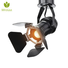 110 V/220 V Retro Industrial LED Spotlight E27 lámpara de techo interior para tienda de ropa Café Bar Art Exhibition Studio Decor(China)