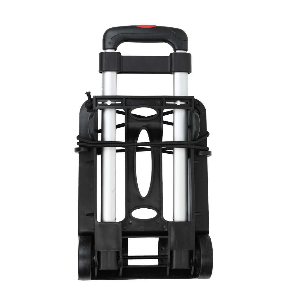 Carrito de viaje portátil plegable de dos ruedas para compras