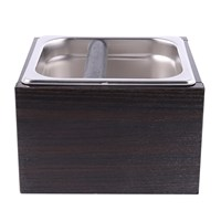 Hot Sale Wood Trash Can Coffee Knock Box Espresso Grounds Container Residue For Barista With Handle Coffee Residue Bucket Grin