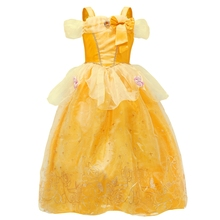 все цены на AmzBarley Belle Princess Dress for Girls Halloween Cosplay Costume kids clothes Tutu Dresses Fancy Girl Birthday Party Ball Gown
