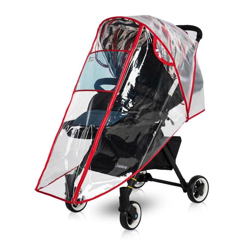Strollers Accessories Eva Food Grade High Landscape Stroller Rain Cover Wind Cap Baby Umbrella Cart Stroller Rain Cover Raincoat Wheelchair Accessory