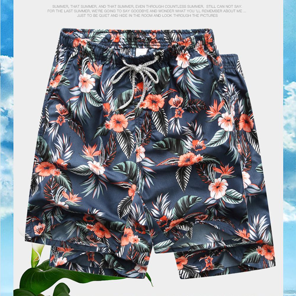 MISSKY, новинка, Seobean, цветочный рисунок, мужские пляжные шорты, мужской купальник, короткие, мужские бермуды, пляжная одежда, купальный костюм, Быстросохнущий