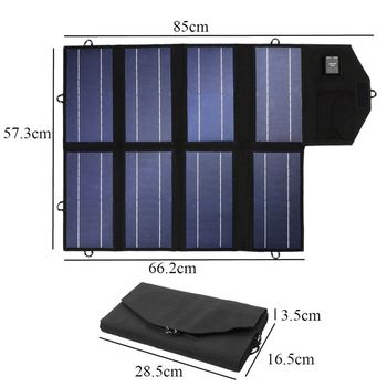 Portable 50W 12V Solar Panel Dual USB Folding Waterproof Charger Mobile Power Bank for Phone Battery Port for outdoor activitie 2