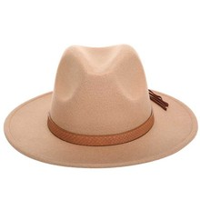 2019 Hot Autumn Winter Sun Hat Women Men Fedora Hat Classical Wide Brim Felt Flo