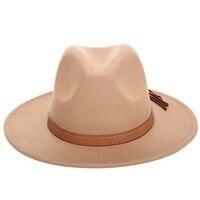 Chapéu de sol de inverno quente chapéu de sol feminino chapéu de feltro de borda larga clássica floppy cloche boné chapeau imitação de lã l xl