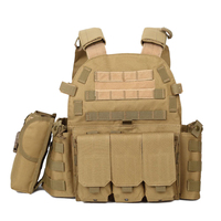 Js 6094 Plate Carrier Modular Military Vest for Airsoft Outdoor Activities Paintball Accessories Tan