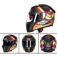 GXT 358 Full Face Helmets Winter Warm Double Visor Motorcycle Helmet Helmet Motorbike Helmet