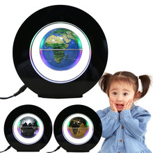 Random Color School Supplies 4 Inch Magnetic Levitation Floating Globe Map LED Light Teaching Resources Home Office Decoration
