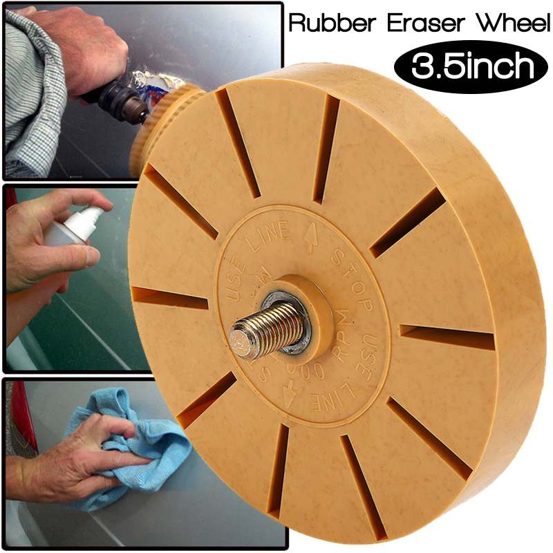 New 3 5 Inch Durable Rubber Eraser Wheel For Remove Car Glue Adhesive Sticker Pinstripe Decal