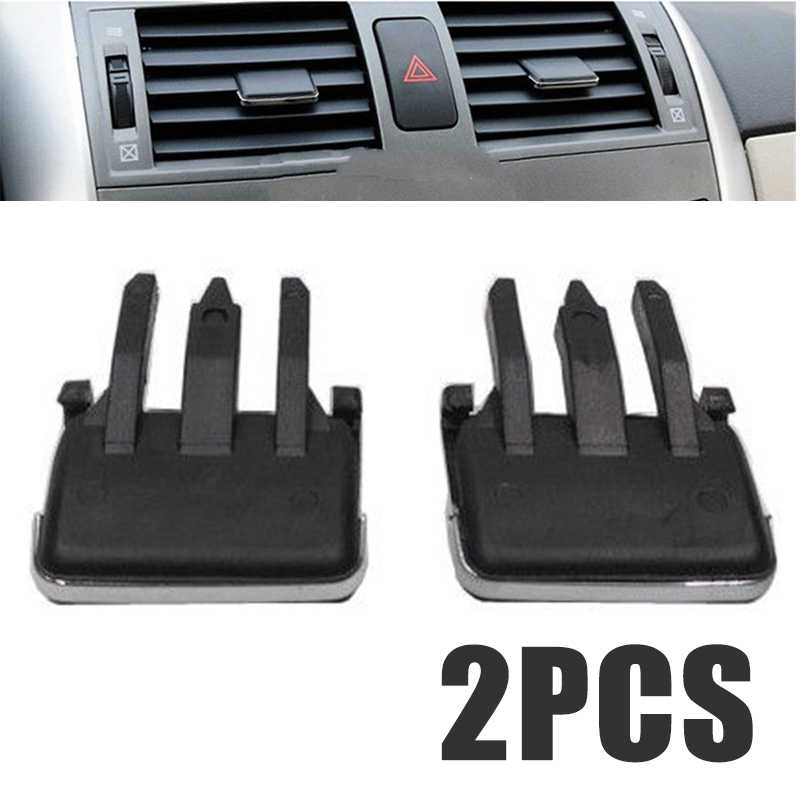 Air-conditioning Installation 1Pair Slice Air Conditioning Leaf Adjust Clips Car Air Vent Louvre Blade for Toyota Corolla