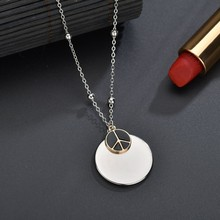 Dropshipping Women Round Pendant Necklaces Handmade Long Necklaces Fashion Jewelry For Women Wedding Necklaces Chain olsen twins dropshipping long acrylic resin oval link chain necklaces for women winter sweater jewelry