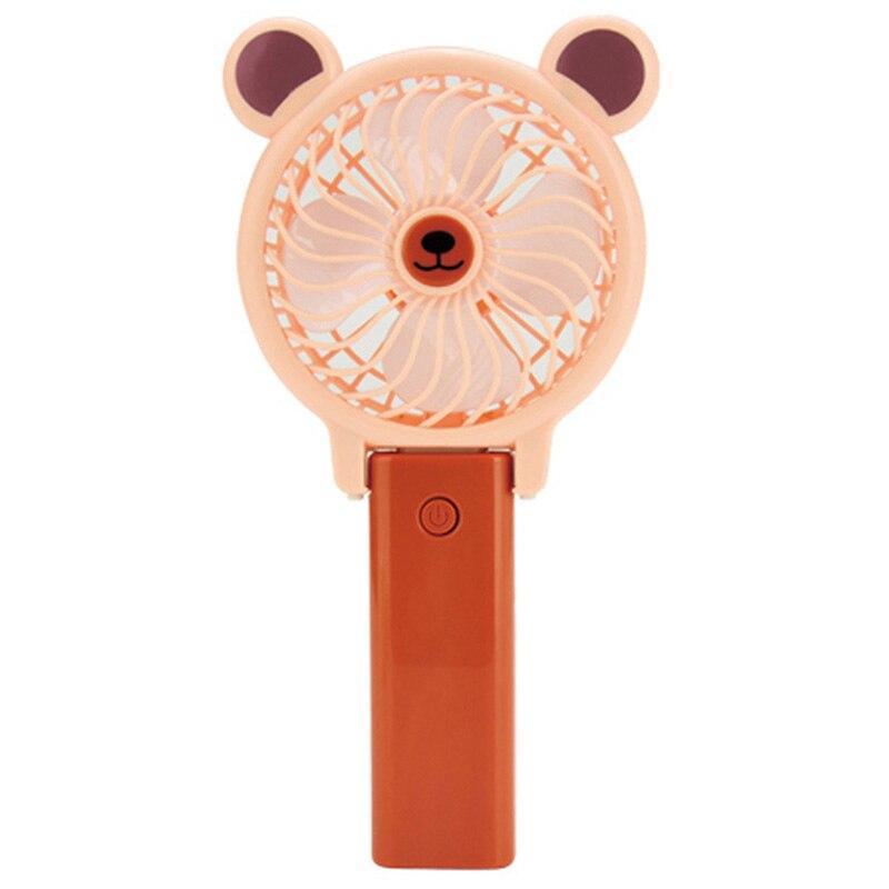 Usb Lüfter Tragbare Handheld Nette Cartoon Tier Frosch Bär Förmigen Lade Kühler Desktop Outdoor Mini Fan