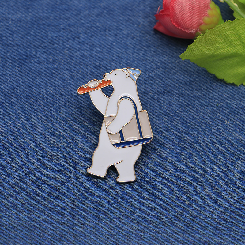 Apparel Sewing & Fabric Objective Cartoon Brooches Carrot Bear Enamel Pin For Girls Boys Lapel Pin Hat/bag Pins Denim Jacket Shirt Women Brooch Badge Sc4264 Bringing More Convenience To The People In Their Daily Life