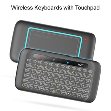 Universal Remote Control 2.4G Backlit Air Mouse with Large Touchpad Mini Keyboard for Smar