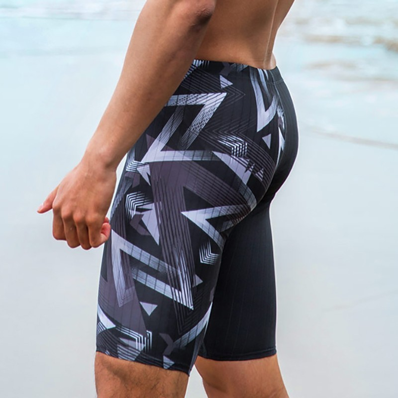 7ce9beeaf2411 Performance Swimwear Men's Lycra Jammer Fiber New Higher Level Male Shark  Skin Swiming Trunk Training Racing Swim Sun Protection-in Body Suits from  Sports ...