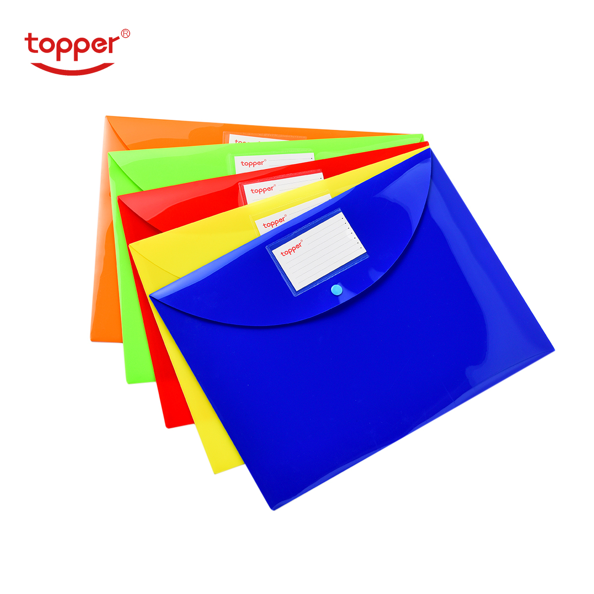 5pcs/set Freeshiping FC/A4 Size Opaque Plastic Document Bag File Folders Filing Paper Storage Office School Supplies File Bag
