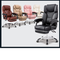 Computer ergonomic kneeling Chair Household To headrest for leather Office furniture Lie Big Class Foot The Massage Noon Break