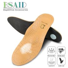 BSAID Cowhide Orthopedic Insoles For Shoes Woman Men Sneakers Arch Support Shoe Insole Massage Foot Pads Flatfoot Correction New