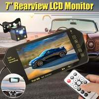 7 inch TFT LCD Car MP5 Player Audio Video Stereo Auto Parking Rear View Mirror Monitor + Waterproof Reversing Backup Camera