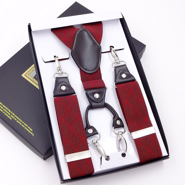 Large Size Hook On Braces Elastic 3.5cm Wide Men Suspenders 3.5*120cm With Gift Retail Package Bretelle Tirantes Shirt