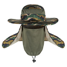 5cd7fd333aaf2 Outdoor Fishing Hat Cap for Men Women Breathable Wide Brim UV Protection  Hat Boonie Hat with