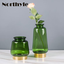Genuine Dream House DH VS127263 modern green glass flower vase decoration home wedding bottle ornament floor vases