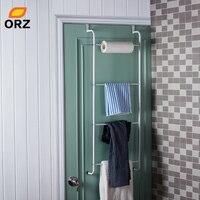 ORZ מתכת 4 שכבה אחסון מתלה בעל טרפז תלוי מעל דלת מגבת רחצה Racks מדפי בגדים ארגונית מדף-במדפים ומתקנים לאחסון מתוך בית וגן באתר