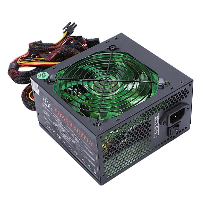 170 260V Max 600W Power Supply Psu 12Cm Pfc Silent Fan 24Pin 12V Pc Computer Sata
