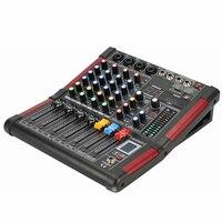 LEORY 4 канала DJ Караоке микшер Bluetooth 99 DSP КТВ Live смешивания USB консоли усилители домашние Professional
