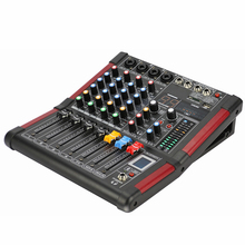 LEORY 4 Channel DJ Mixer Karaoke bluetooth 99 DSP KTV Live Mixing USB Console USB Amplifier Professional цена