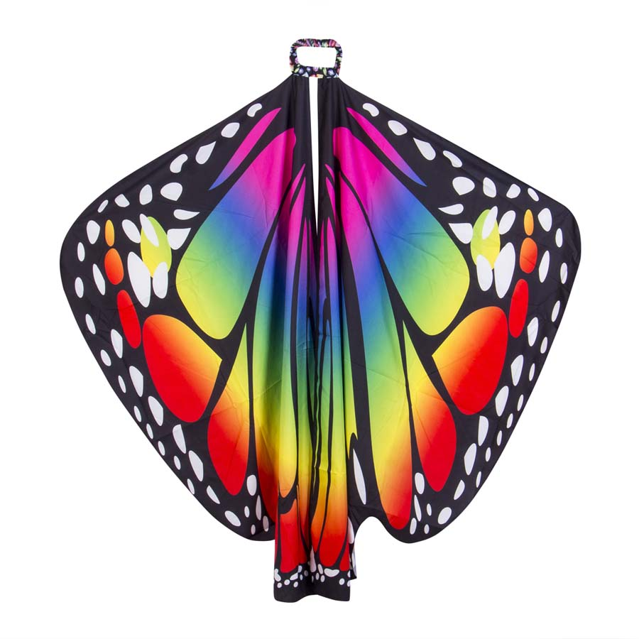 Fashion Women New Colorful Butterfly Wing Cape Long   Scarf   Party   Wraps   Pashmina Women   Wraps   Loose Multicolor   Scarf