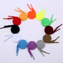 1 Pair 100cm Shoelace Flat Popular Sports Shoes Laces Casual Canvas Polyester Shoelaces Candy Color White Black Green Shoelace