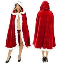 Женская накидка с меховой отделкой, Рождественский Санта Клаус, Рождественский костюм, красная Свадебная накидка, накидка для девушек, зимняя накидка, свадебные часы с капюшоном