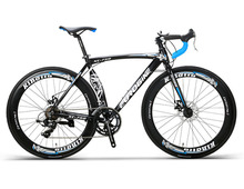 Call On Can Aluminium Alloy 14 Speed Brake Highway Bicycle 700C Cross-country Highway Sports Car XC750 cheap Unisex Spring Fork (Low Gear Non-damping) Bead Pedal 150kg Soft-tail Frame Double Disc Brake LANKELEISI Road Bike 50cm white