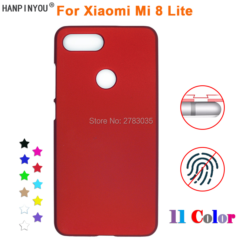 "For Xiaomi Mi 8 Lite 6.26"" New Anti-fingerprint Ultra-thin Smooth Matte PC Case Hard Back Protective Cover"